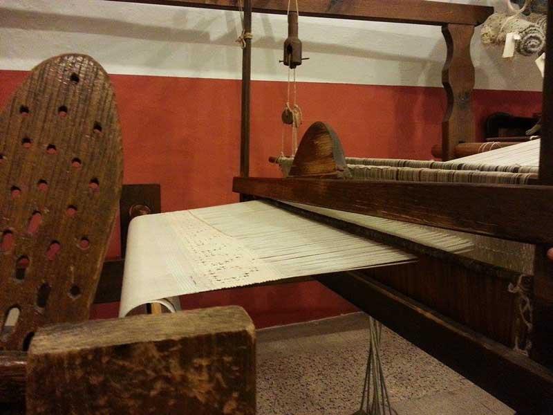 Dettaglio del telaio antico