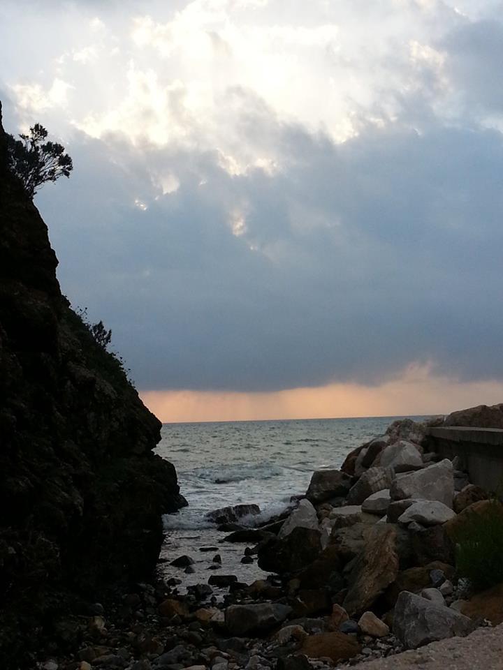 Tramonto sul mare a Piombino