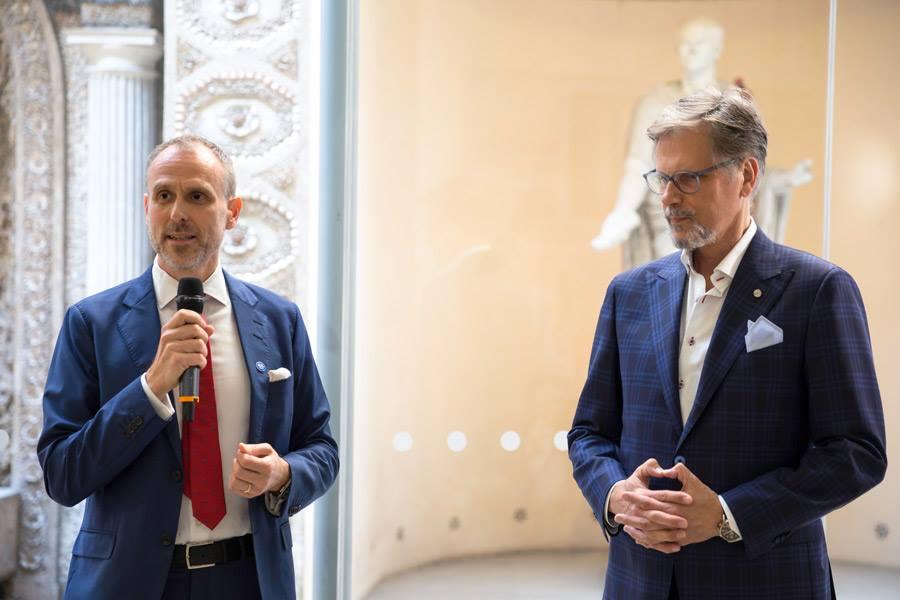 L'ambasciatore di Finlandia insieme a Markku Piri
