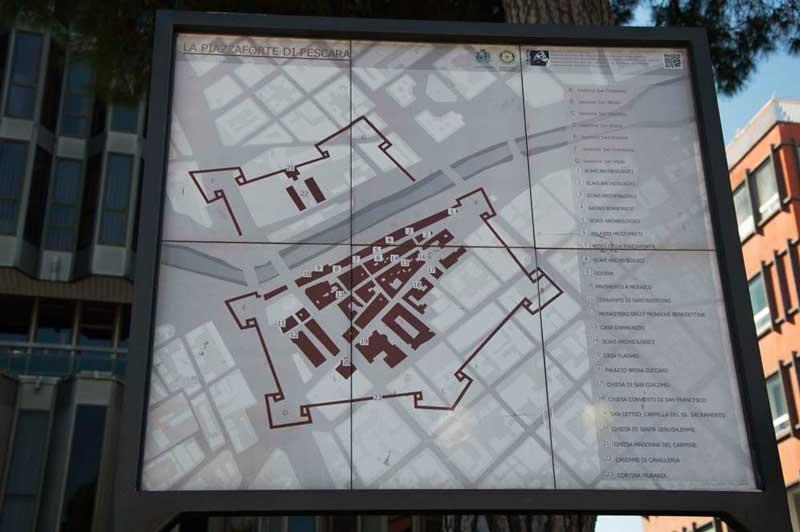 Schema dell'antica Fortezza Borbonica