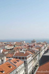 Vista dall'Elevador de Santa Justa