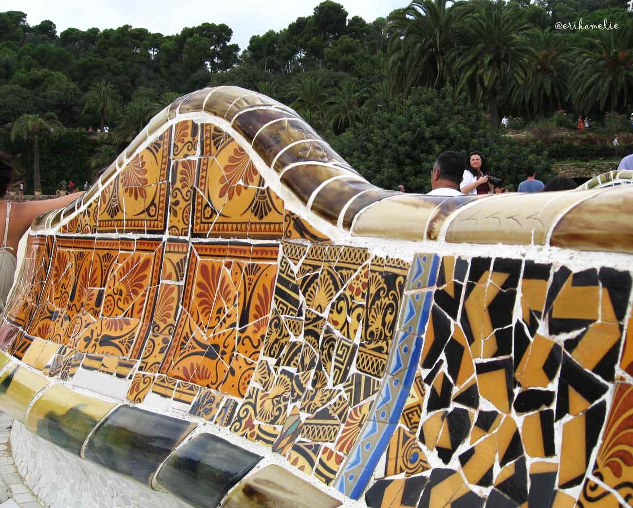 Panchine di mosaici