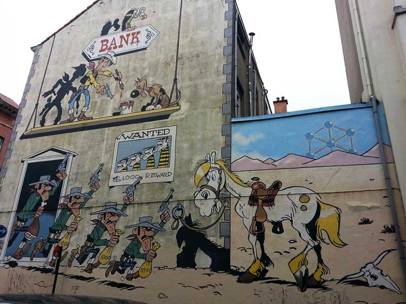 Lucky Luke (Morris) Rue de la Buanderie 19