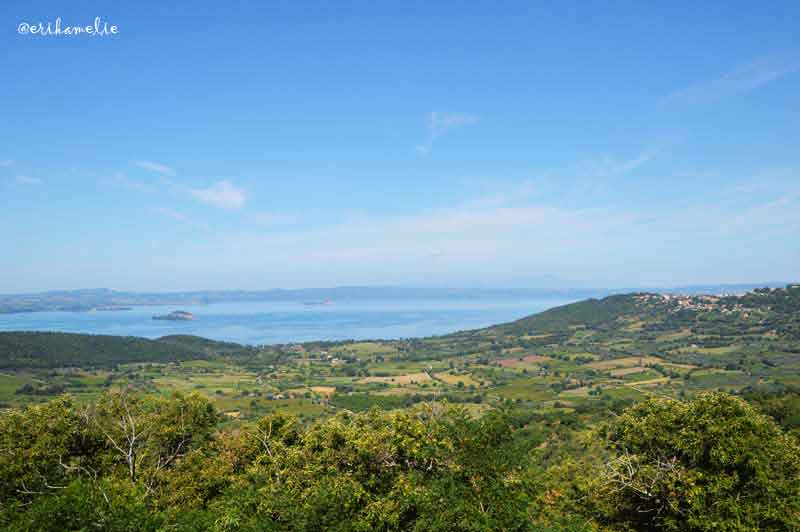 Vista del lago da Montefiascone